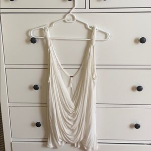 Low neck white free people tank - never worn